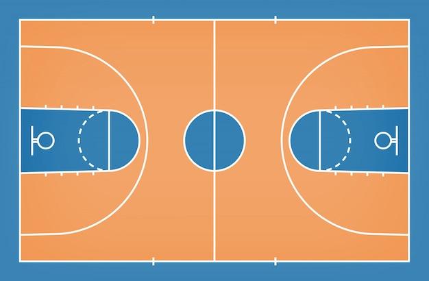 Terrain de basket avec motif de lignes pour le fond.