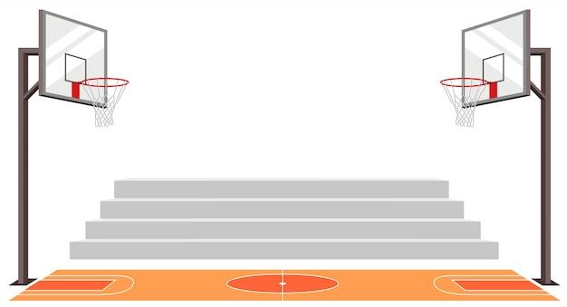 Terrain de basket sportif. match de sport.