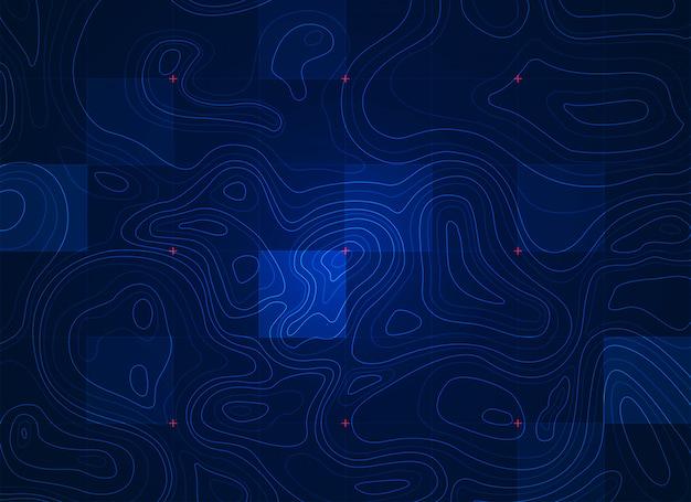 Terrain bleu
