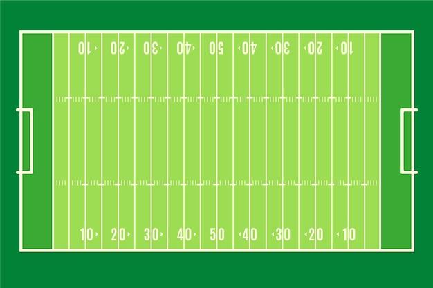 Terrain de football américain design plat