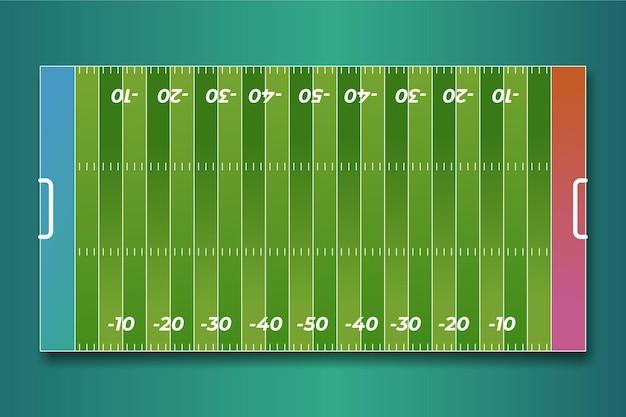 Terrain de football américain plat en vue de dessus