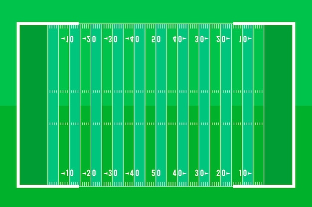 Terrain de football américain de style plat