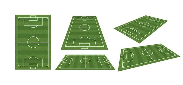 Terrain de football ou collection de terrain de football