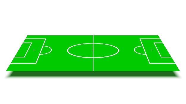 Terrain de football sur fond blanc.