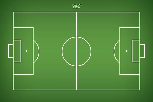 Terrain de football ou fond de terrain de football. terrain en herbe verte pour créer un match de football. illustration vectorielle.