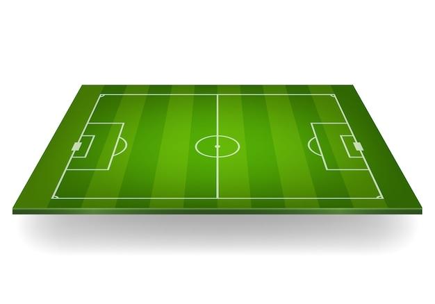 Terrain de football rayé