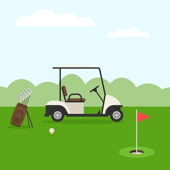 Terrain de golf. paysage de golf