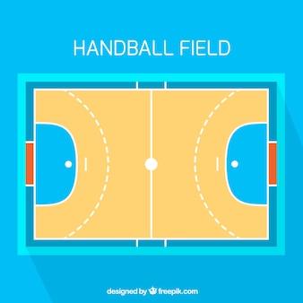 Terrain de handball avec vue de dessus
