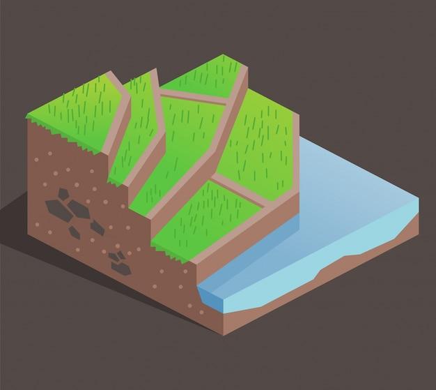 Terrasse en agriculture sur une colline