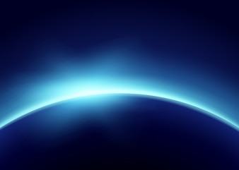 Terre avec la lumière bleue