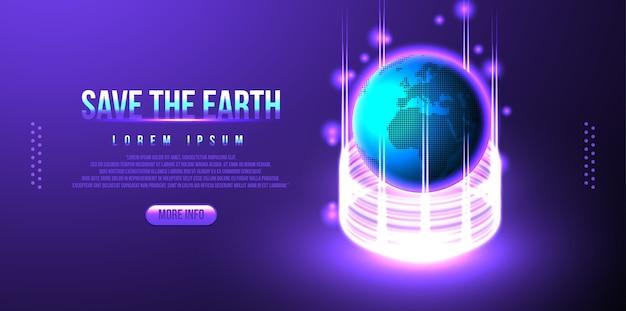 Terre, conception futuriste de globe