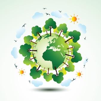 Terre écologique verte