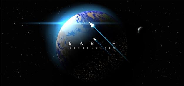 Terre sur fond de l'espace