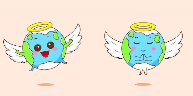 Terre mignonne comme un ange
