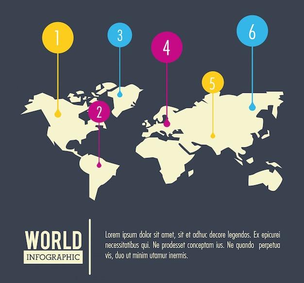 Terre monde infographique
