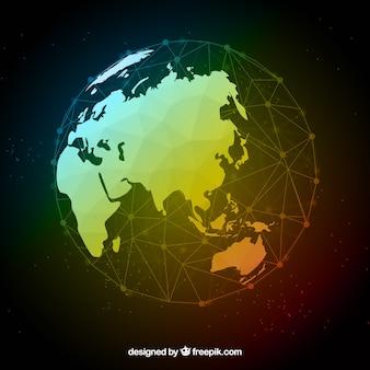 Terre polygonale moderne