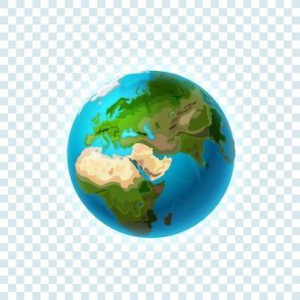 Terre réaliste isolé sur transparent