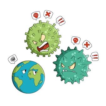 La terre se fait intimider par le coronavirus