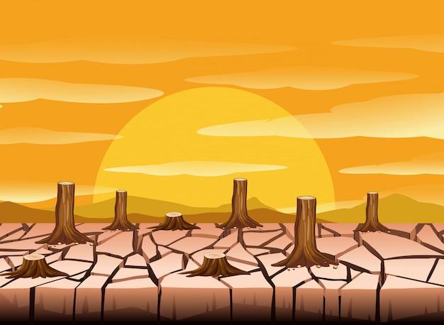 Une terre sèche et chaude