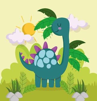 Terre tropicale de dinosaure mignon