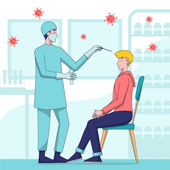 Test d'écouvillonnage nasal