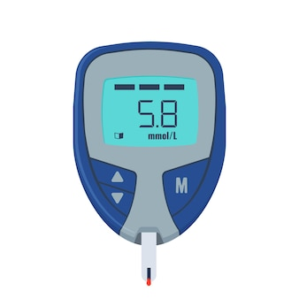 Test de glucose. dispositif médical pour mesurer le sucre dans le sang.