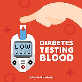 Test sanguin sur le diabète