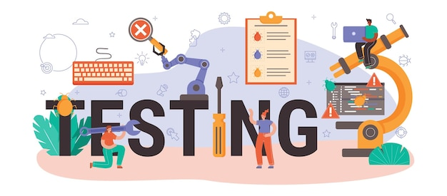 Test d'en-tête typographique. code d'application ou de site web