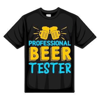 Testeur de bière professionnel typographie premium vector tshirt design modèle de devis