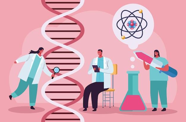 Tests génétiques avec adn