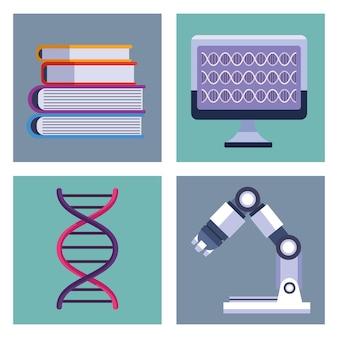 Tests génétiques quatre éléments