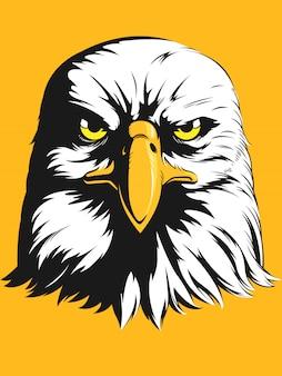 Tête d'aigle - caricature vue de face