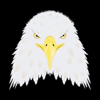 Tête d'aigle chauve stylisée