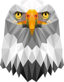 Tête d'aigle en cubes triangle