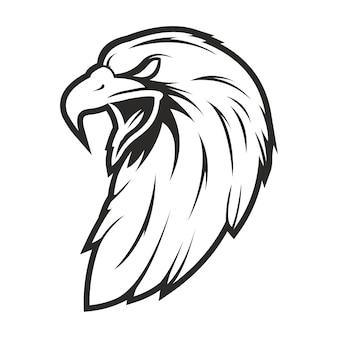 Tête d'aigle dessin style vintage à la main