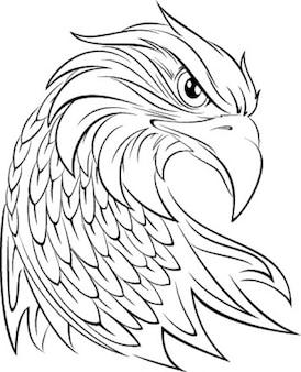 Tête d'aigle graphique