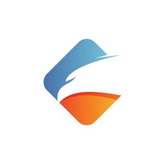 Tête d'aigle logo vecteur