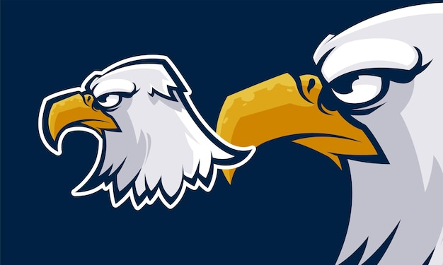 Tête d'aigle mascotte concept coloré premium illustration de mascotte vectorielle