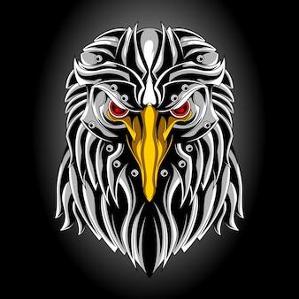Tête d'aigle en métal