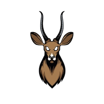 Tête d'antilope