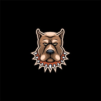 Tête de chien bull logo.