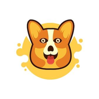 Tête de chien enjouée