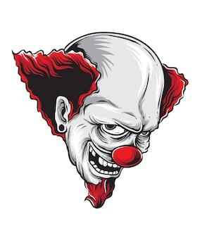 Tête de clown effrayant