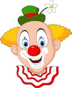 Tête de clown joyeux dessin animé