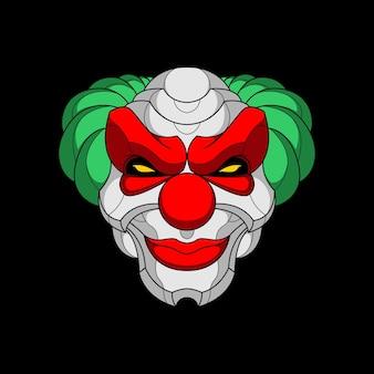 Tête de clown mecha