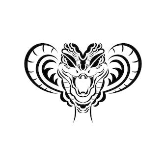 Tête de cobra. illustration à utiliser comme impression, affiche, autocollant, logo, tatouage, emblème et autre.