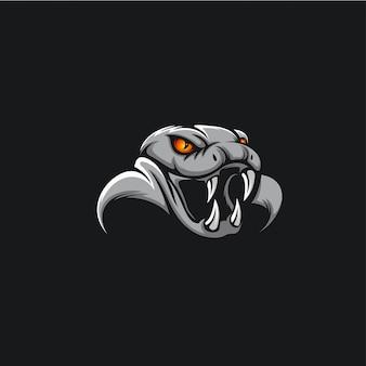 Tête cobra logo ilustration