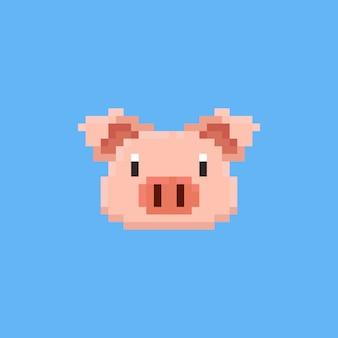 Tête de cochon pixel