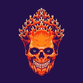 Tête de crâne banaspati isolée sur violet