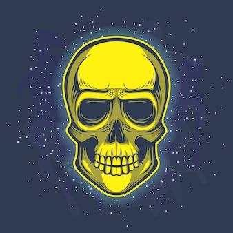 Tête de crâne en or